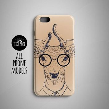 Deer Painting Hipster iPhone 7 Case iPhone 6S Case iPhone SE Case iPhone 8 Plus Case iPhone 8 Case iPhone 7 Plus Case iPhone 6 Case Animal