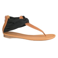 julia scarf sandal in black