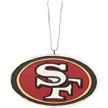 SAN FRANCISCO 49ERS OFFICIAL NFL RESIN LOGO ORNAMENT