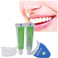 1 Set NEW Hot White LED Light Teeth Whitening Tooth Gel Whitener Health Oral Care Toothpaste Kit for Personal Dental Treatment