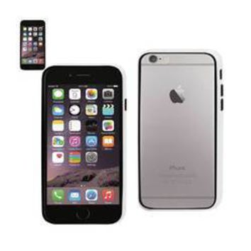 REIKO IPHONE 6 BUMPER CASE WITH TEMPERED GLASS SCREEN PROTECTOR IN WHITE