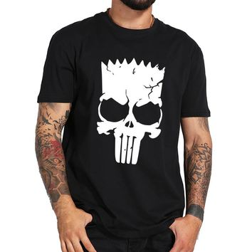 Skull Tee shirt Death Symbol Cool Punk Style Cotton