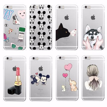 Lovely Girly Lipstick Perfume Makeup Cat Butterfly Soft Tpu Phone Case Fundas For iPhone 7Plus 7 6 6S 5 5S SE 4 Samsung Galaxy