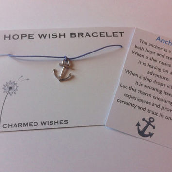Anchor wish bracelet | Gift of hope | Friendship gift | Gifts for her | Friendship bracelet | Hope gift | Present for friend | Best friends