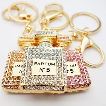 Perfume Bottle Key Chain