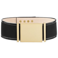 Balmain - Velvet and Patent Leather Belt