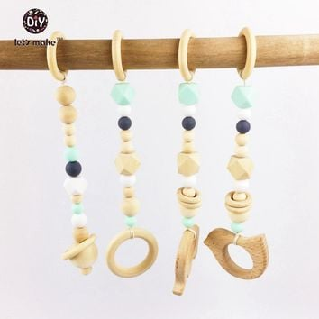 Baby Wood Beads Montessori Teether Toy