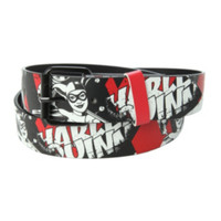 DC Comics Harley Quinn Distressed Belt