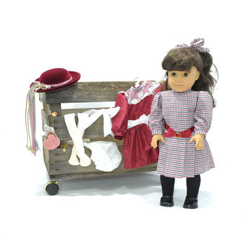 Samantha Parkington • Vintage American GIrl Doll • Retired Pre-Mattle • Pleasant Company Samantha Doll • AG Accessories • 2 Retired Outfits