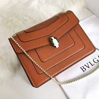 Bvlgari fashionable lady casual shoulder bag hot seller of shopping bag with snake pattern in pure color #9
