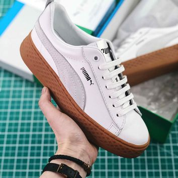 Puma Suede Classic Basket White Brown Sneakers - Best Online Sale