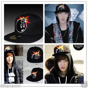EXO k Cap Kpop ChanYeol history hip-hop hat baseball fitted fashionable gift