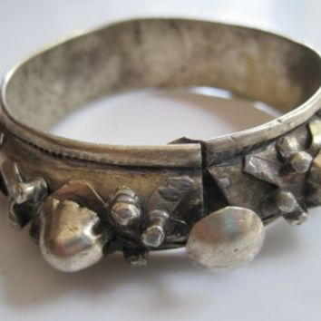 Vintage North African Berber Knob Bracelet from Mauritania or Morocco used in the Guedra