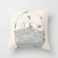SEABOUND Throw Pillow by Kelli Murray