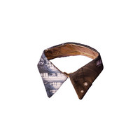 Mobius Strip Double Sided Detachable Collar in Gold Metallic/Hyperspace Library