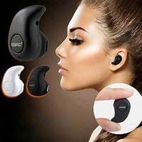 Newest Smallest Wireless Invisible Bluetooth Mini Earphone Earbud Headset Headphone Support Hands-free Calling For iPhone Samsung Xiaomi Sony Lenovo HTC LG and Most Smartphone. (Black)