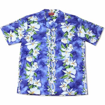 Orchid Purple Hawaiian Cotton Shirt
