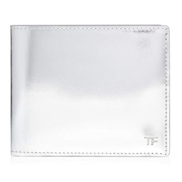 Metallic Silver Bi-Fold Wallet by Tom Ford