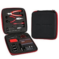 Coil Master Tool Kit V2 DIY Kit for Atomizer Rebuilding Vape Mod DIY 6-in-1 Coil Jig Tool Kit Coil Jig V2+ohm Meter +Diagonal Pliers +Scissors +Screwdriver +Ceramic/elbow Tweezer +Kanthel Wire +Case