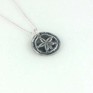 Fine Silver Sand Dollar Coin Necklace