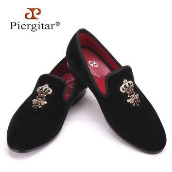 Bees silk embroidery men velvet shoes fashion Men wedding and party male shoe Men Flats