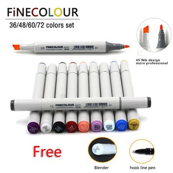 36 48 60 72 Colors Alcohol Based Ink Double Headed Art Sketch Marker Brush Pen Set Painting Sketch Drawing Art Copic Marker Pens