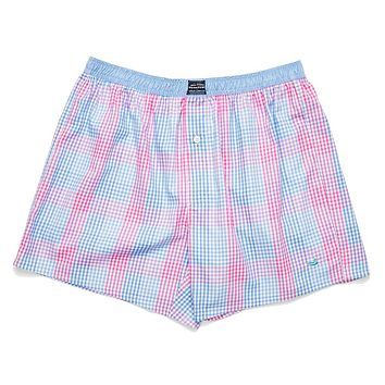 Hanover Gingham Boxers in Lilac & Pink by Southern Marsh