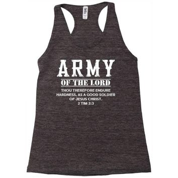 Army Of The Lord Christian T Shirts Bible Verse Racerback Tank
