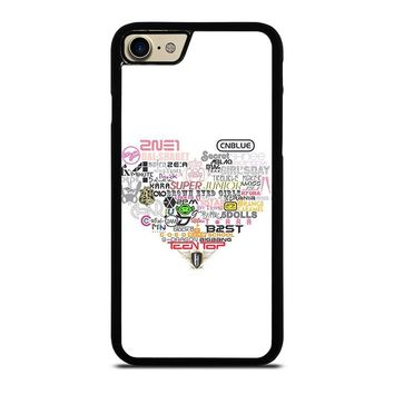 KPOP ALL BAND LOVE iPhone 7 Case Cover