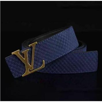 DCCKJ1A Louis Vuitton Fashion Smooth Buckle Belt Leather Belt