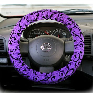 Steering Wheel Cover Bow Wheel Car Accessories Lilly Heated For Girls Interior Aztec Monogram Tribal Camo Cheetah Sterling Chevron Ornament