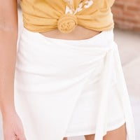 Tied with a Bow Skirt, Ivory