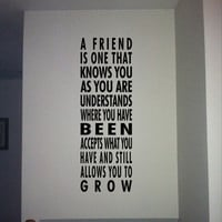 $16.80 A friend vinyl wall quote by daydreamerdesign