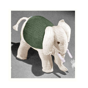 Crochet TOY Pattern Vintage 70s Crochet Elephant Toy Pattern Stuffed Animal