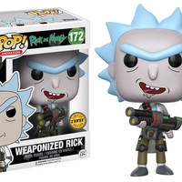 """Funko Pop CHASE Weaponized Rick - Rick And Morty 3.75"""" Vinyl Figure IN STOCK"""