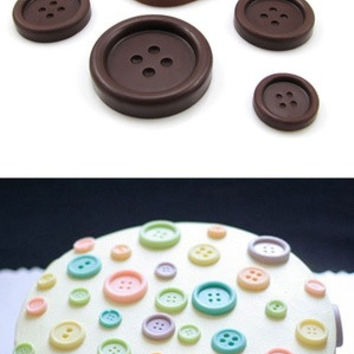 New And Useful Silicone Chocolate Ice-Cubes Tray Mold For Button Shape Cooking Tools HG-1244 = 5658095489