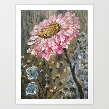 Pink Gerbera  Daisy Flower Art Print by Rokin Art by RokinRonda