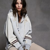 Free People Varsity Embellished Pullover