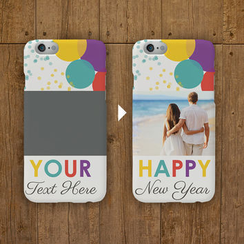 Personalised new year's phone Case - iPhone 6 Plus case iPhone 6 Case iPhone 5 5S Case Samsung Galaxy S5 S4 Case