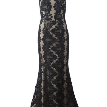 Alice+Olivia Sheer Lace Patterned Dress