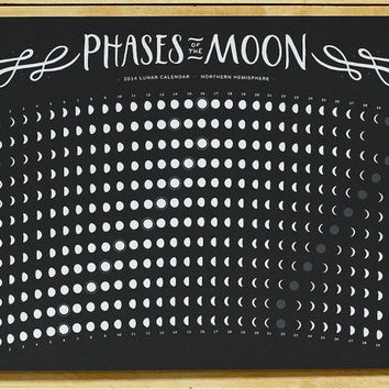 2014 Screen Printed Lunar Calendar