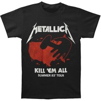 Metallica Men's  Kill 'Em All Tour T-shirt Black