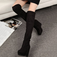 Fashion Women  Casual Long Boots  Platform Shoes