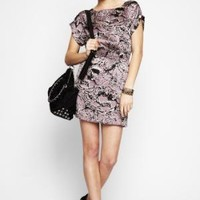 BCBGMAXAZRIA - SHOP BY CATEGORY: DRESSES: VIEW ALL: BCBGENERATION PRINTED CUTOUT-BACK DRESS