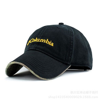 Black Columbia Unisex Adjustable Performance Classic Outdoor Flex Fitted Hat Cap