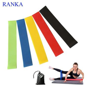 5PCS/Set Resistance Band fitness 5Levels Latex Gym Strength Training Rubber Loops Bands Fitness CrossFit Equipment Free Shipping