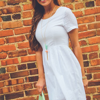 Southern Summer Dress in White