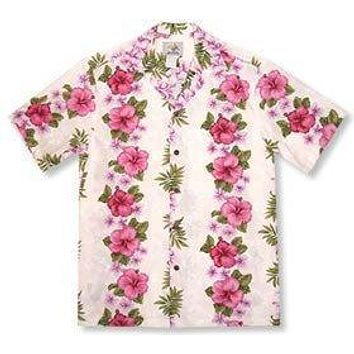 pinkmist hawaiian cotton shirt