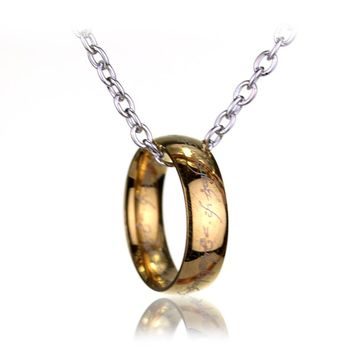Fashion Accessories The Lord Of The Rings Gold-Color Pendant Necklace Women Round Necklaces Jewelry-30