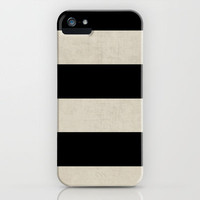 vintage black stripes iPhone Case by her art | Society6